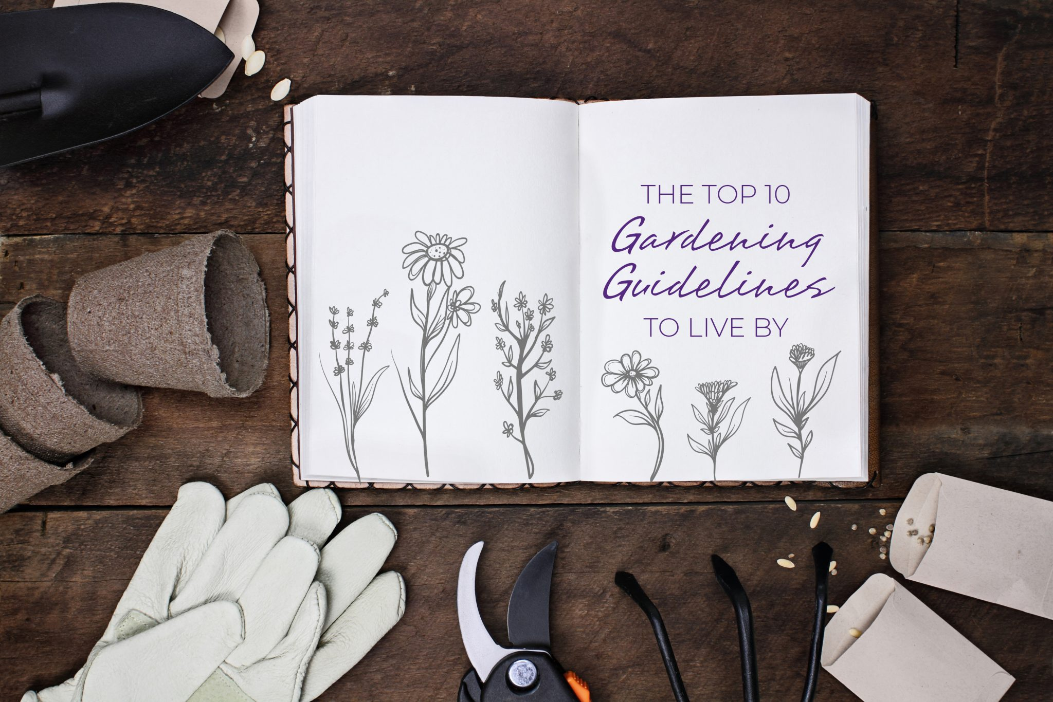 Gardening journal for the 'Resilient Gardener, featuring the top 10 Adaptive Gardening Guidelines