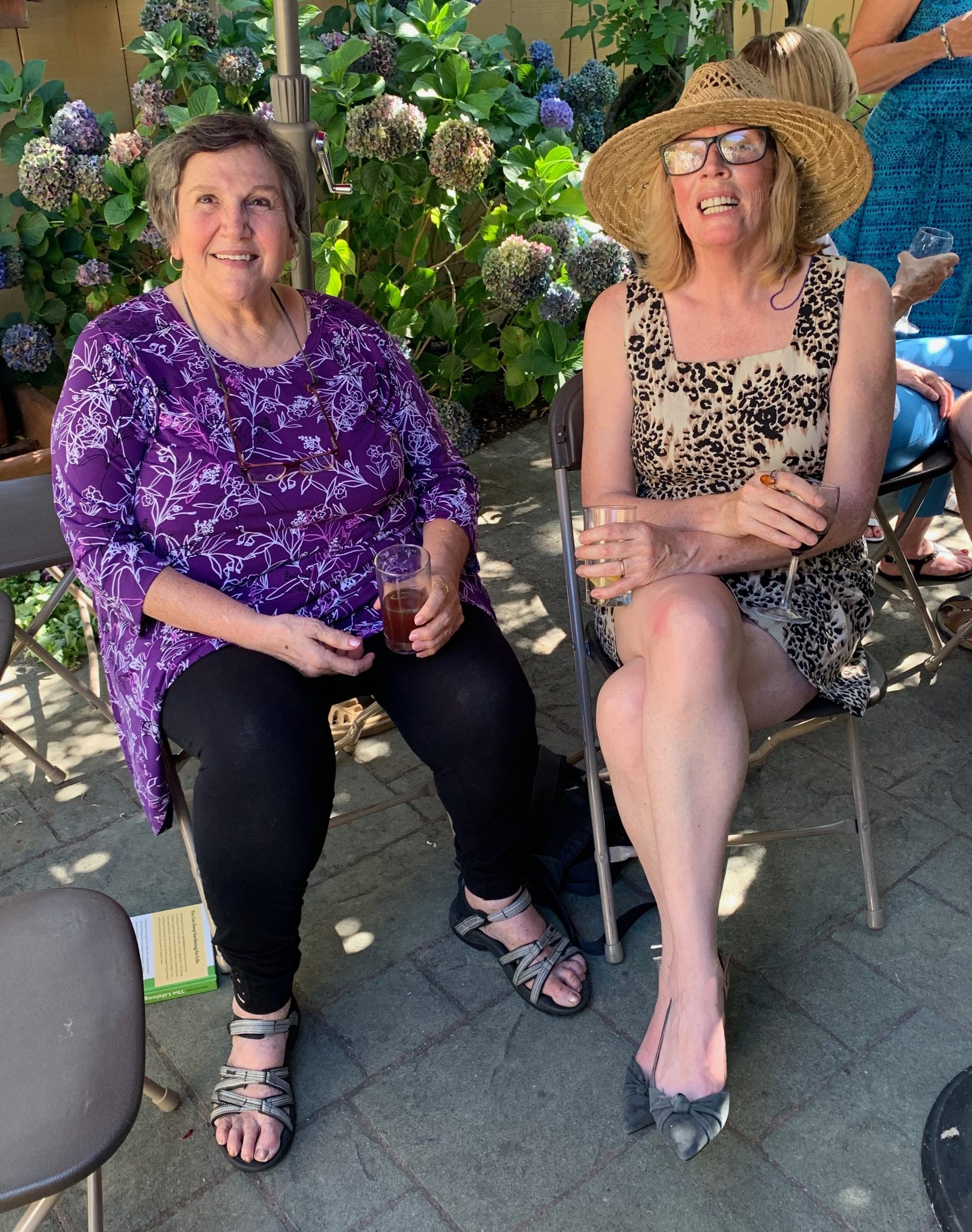 Lori Hall and Karen Turcotte celebrating the launch of The Lifelong Gardener: Garden with Ease & Joy at Any Age